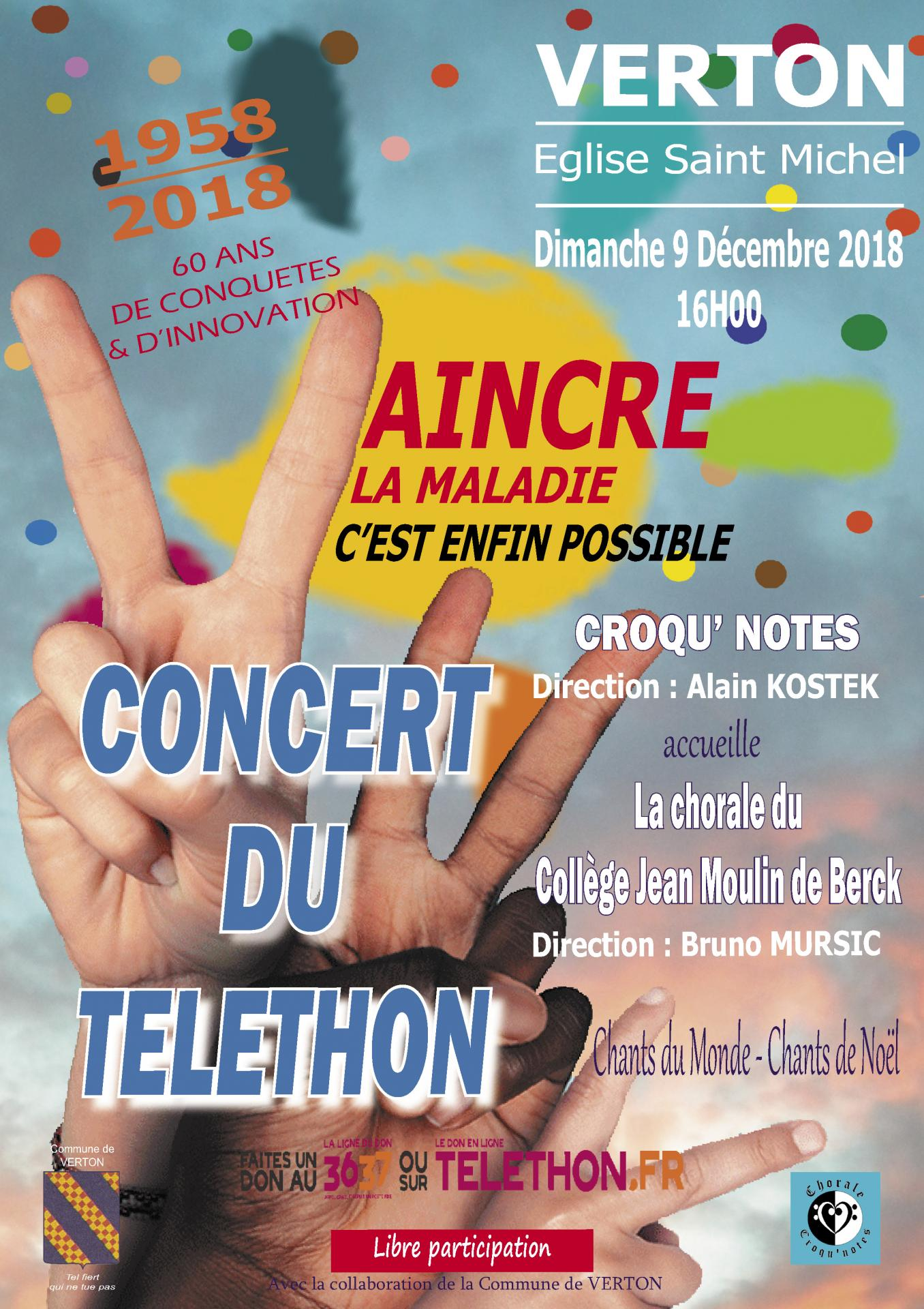 Aff concert du telethon 2018